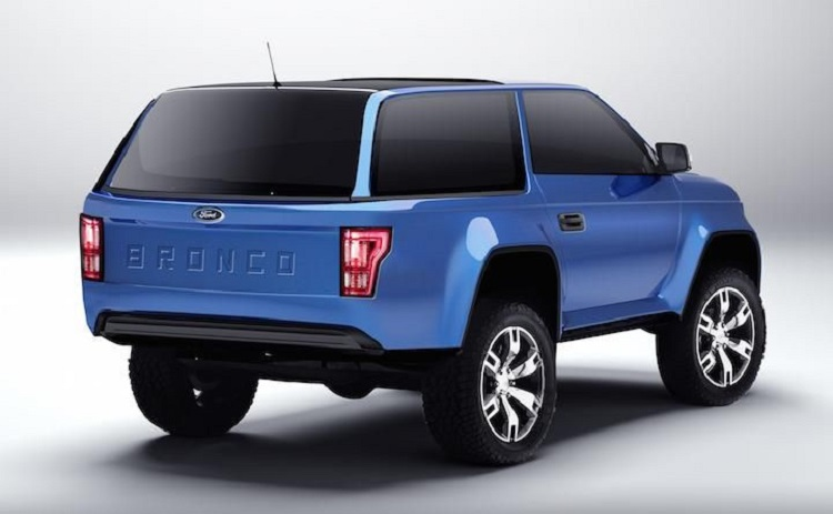 2017 Ford Bronco rear view