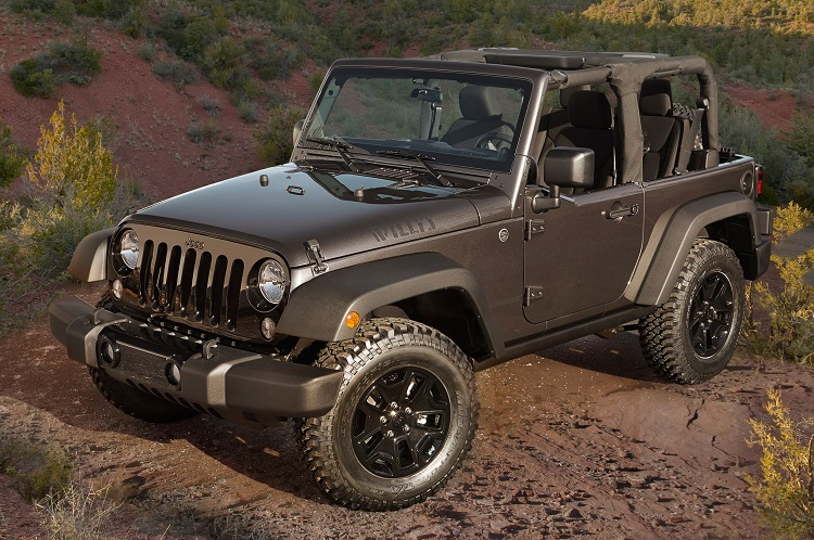 2017 Jeep Wrangler front view