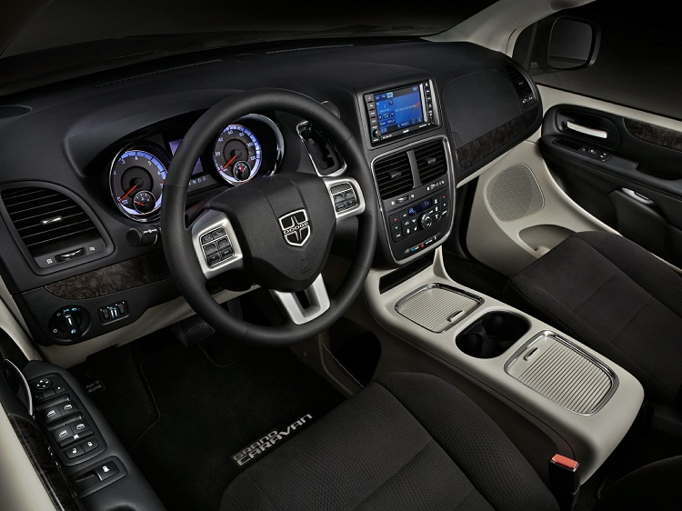 2017 Dodge Caravan interior