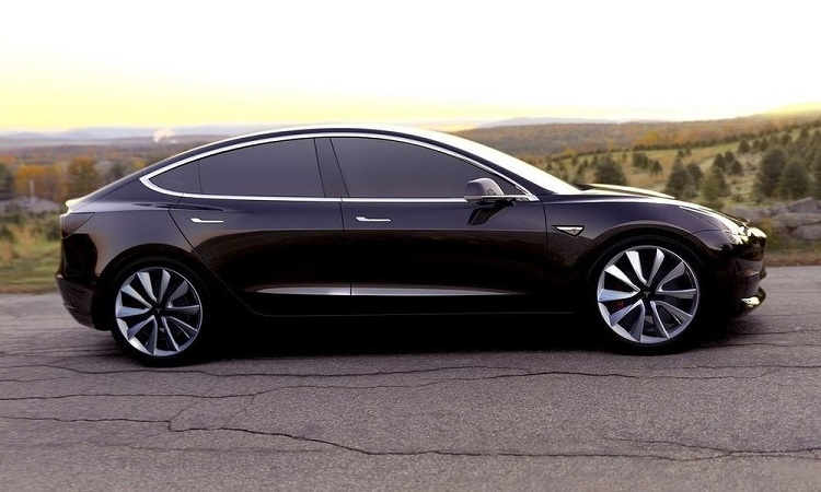 2018 Tesla Model 3 side view