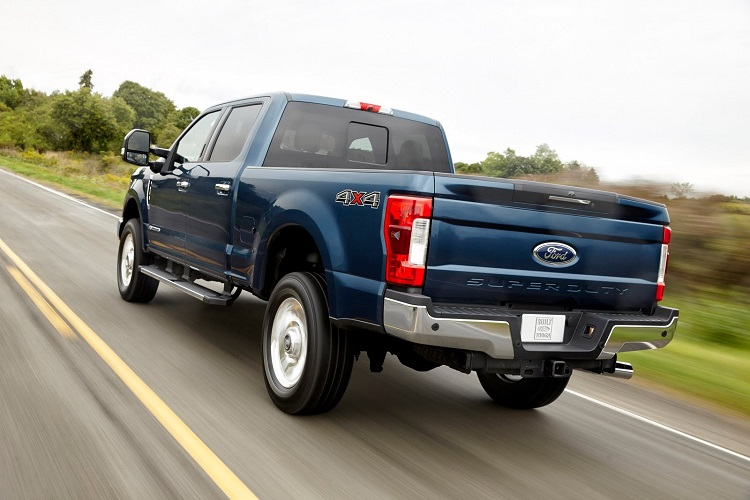 2018 Ford F-250 rear view