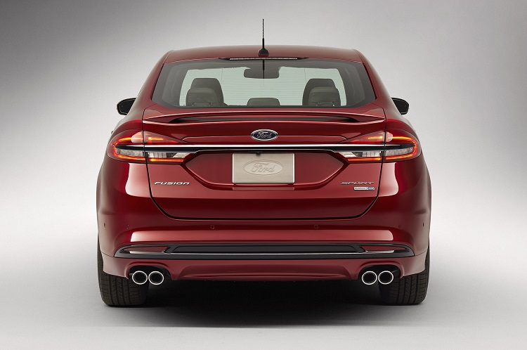 2018 Ford Fusion rear view