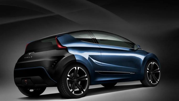2018 Tesla Model C rear