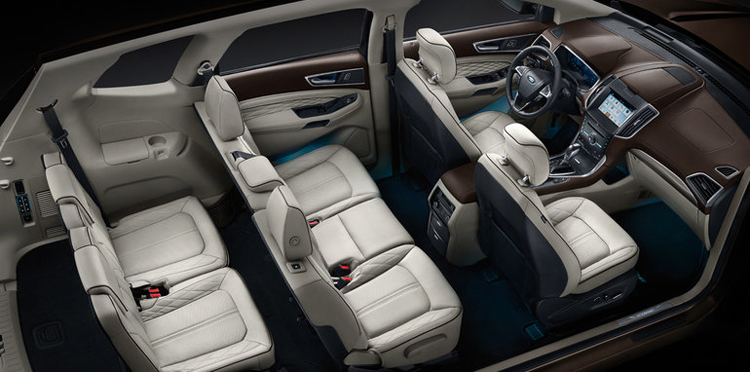 2018 Ford Edge Sport seating layout