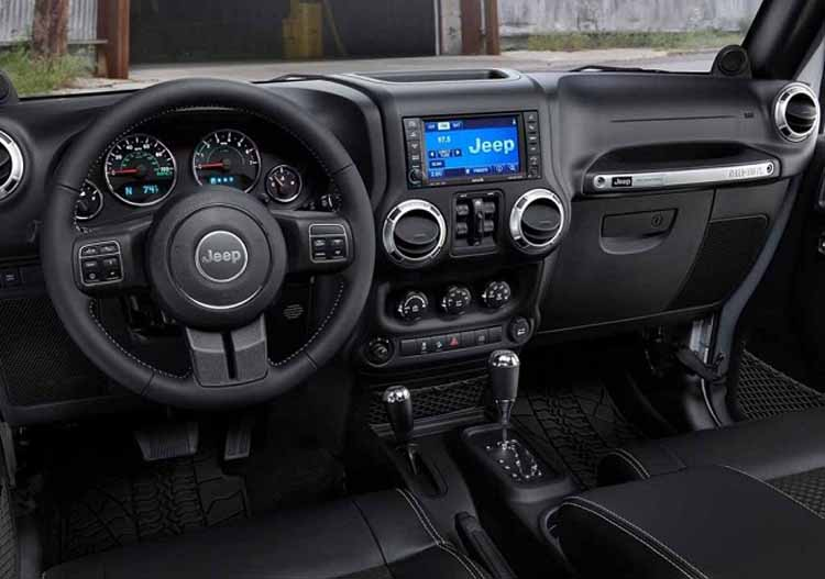 2018 Jeep Wrangler Hybrid interior
