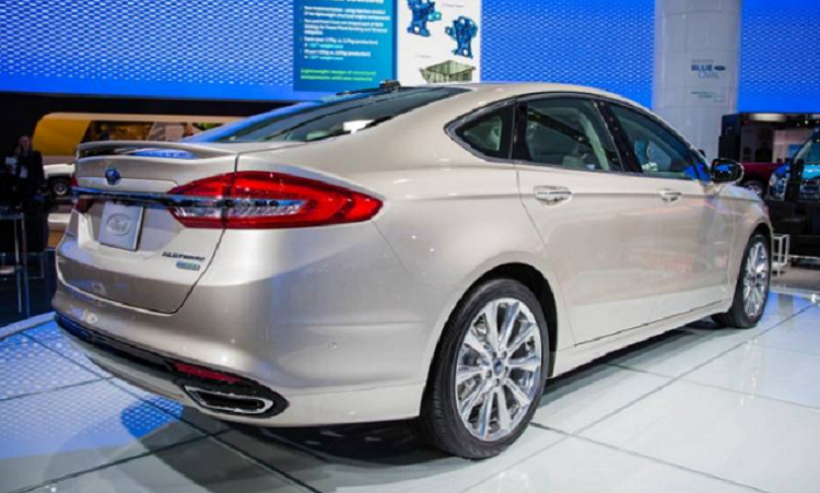 2019 Ford Fusion rear view