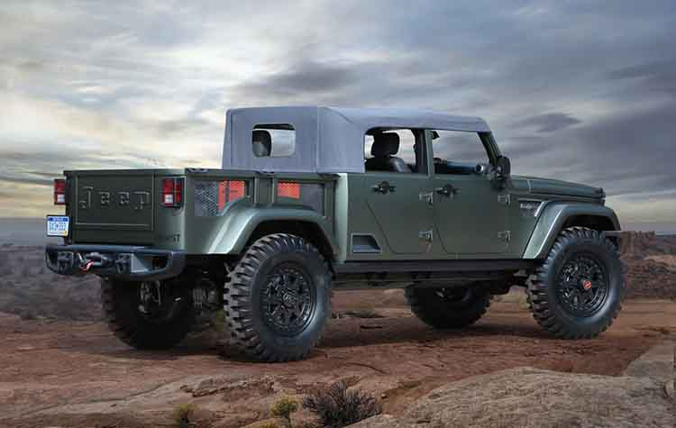 2019 Jeep Wrangler Pickup rear