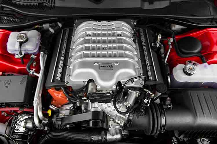 2019 Dodge Challenger Hellcat engine