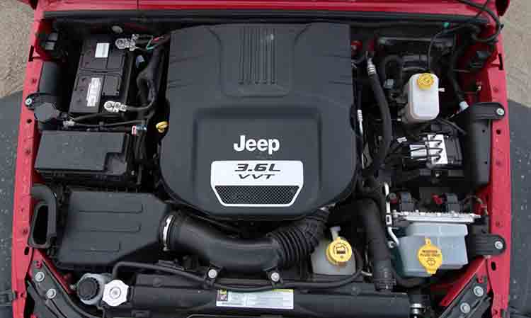 2019 Jeep Wrangler Pickup engine