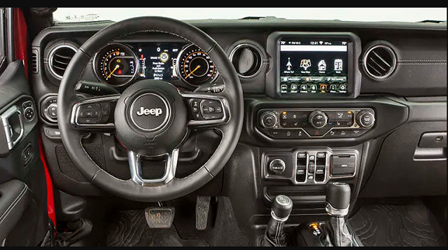 2021 Jeep Wrangler Pickup Interior