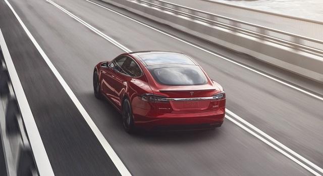 2021 Tesla Model S rear